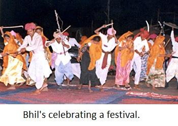 Bhils celebrating their festivals.